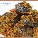 Bharva Baingan in white bowl