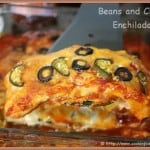 Beans and Cheese Enchiladas