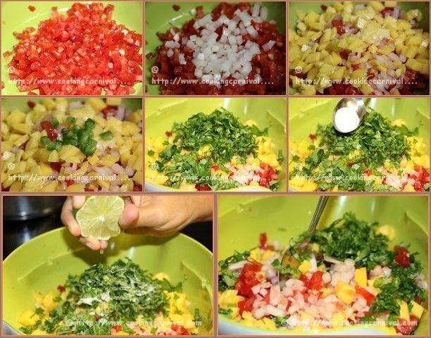 Mango Salsa step by step tutorial.