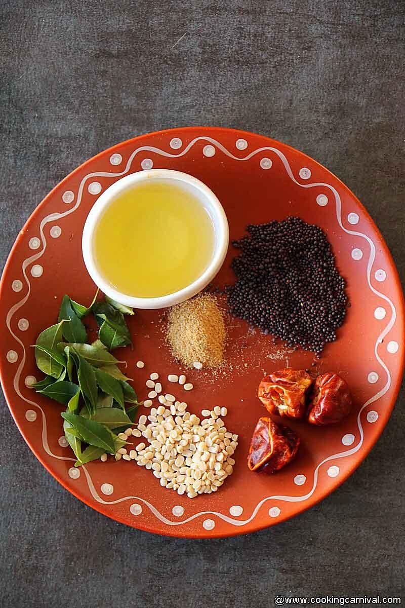 vengaya chutney tempering ingredients