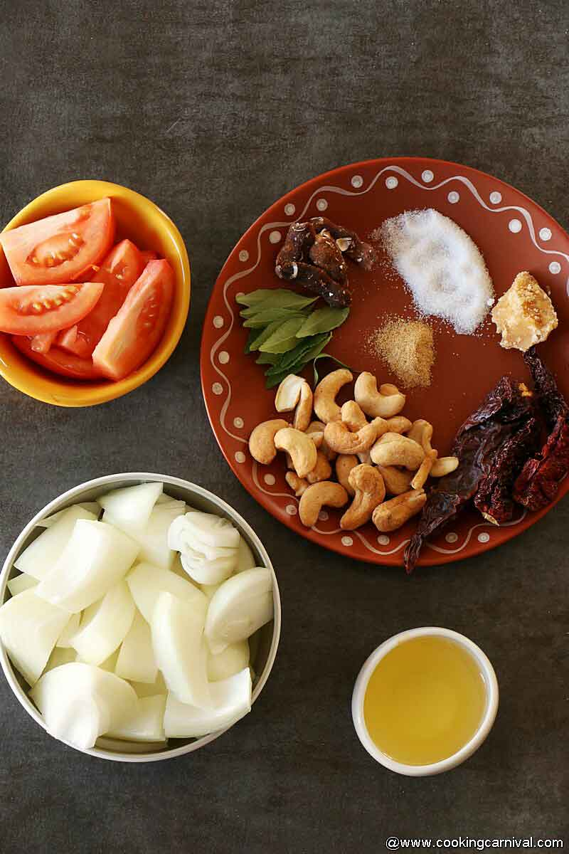 Onion chutney ingredients