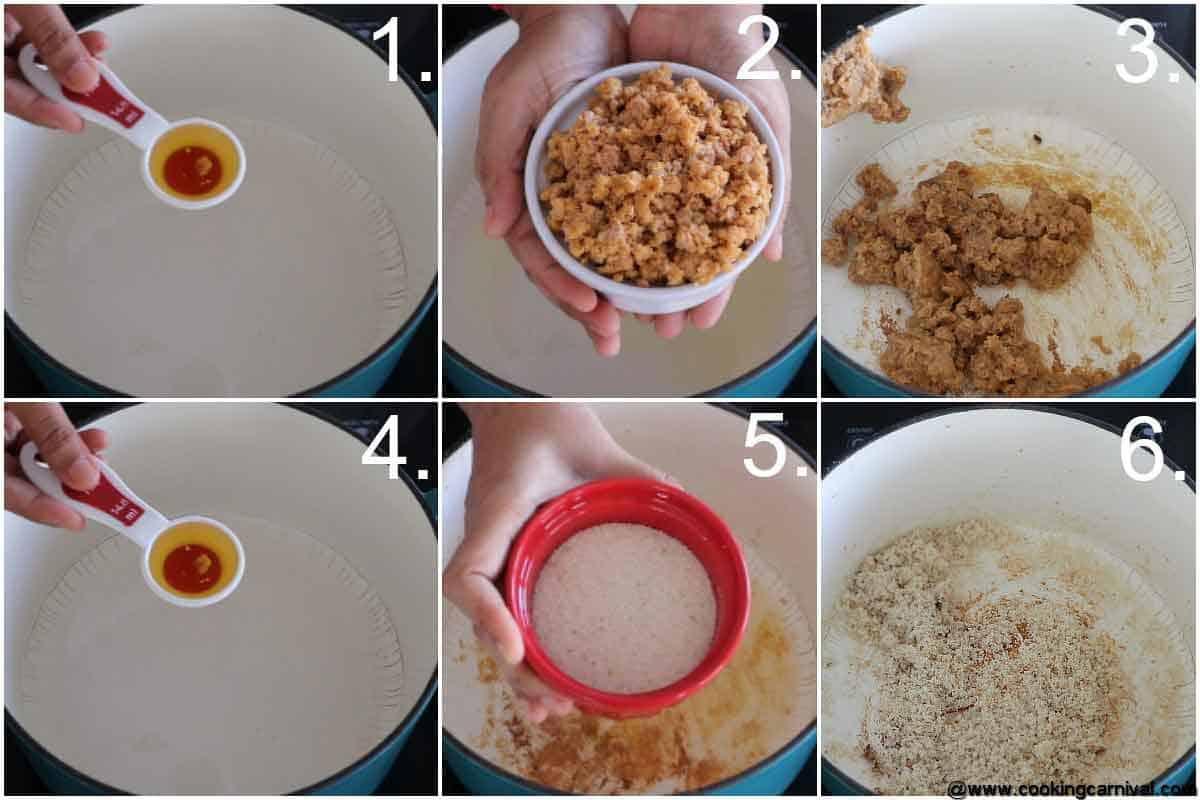 Step by step process of making gujiya stuffing 1