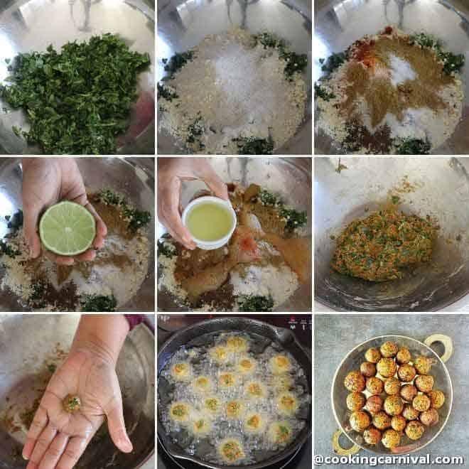 making methi muthia for undhiyu recipe