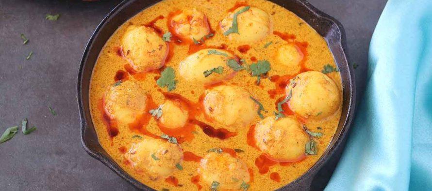Tawa Aloo | Easy Potato Curry Recipe | Dahiwale Aloo