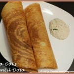 Quinoa Oats and Lentil Dosa