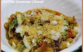 Chhole Samosa Chaat