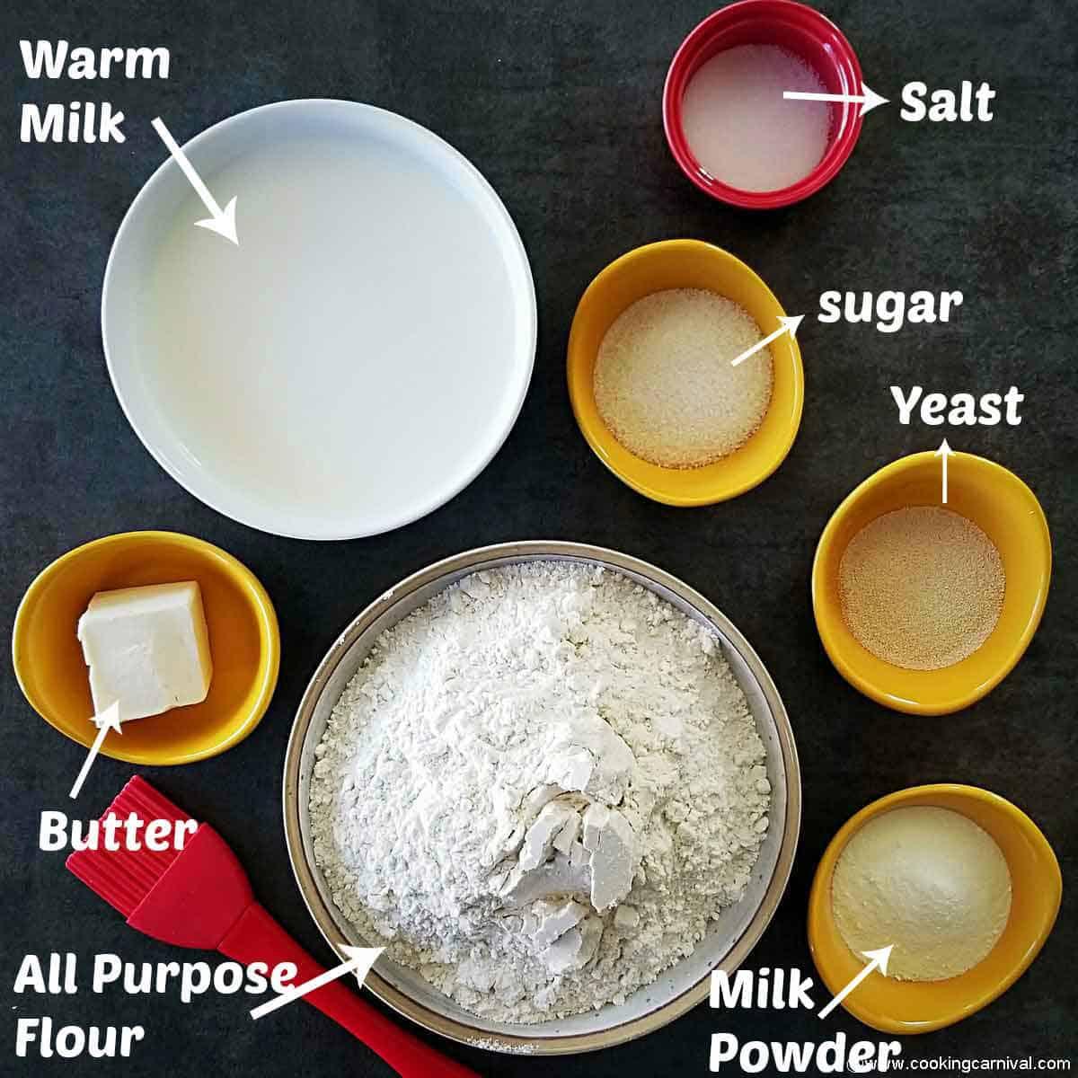 Pre-measured ingredients to make Pav
