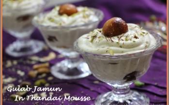 Gulab Jamun In Thandai Mousse