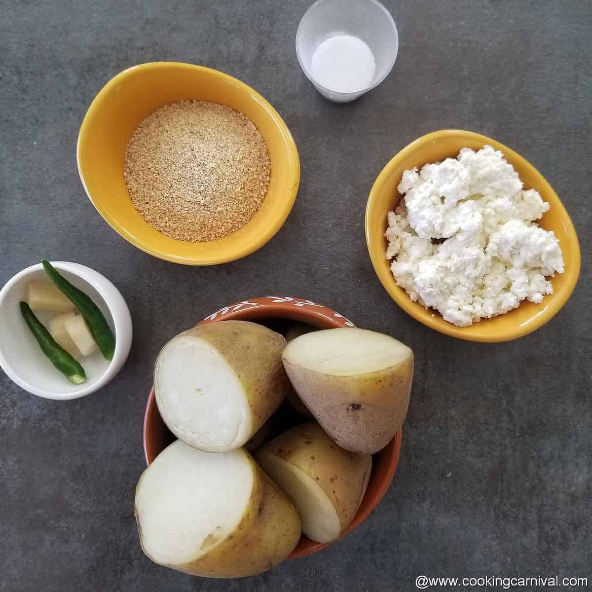 Pre portioned kofta ingredients