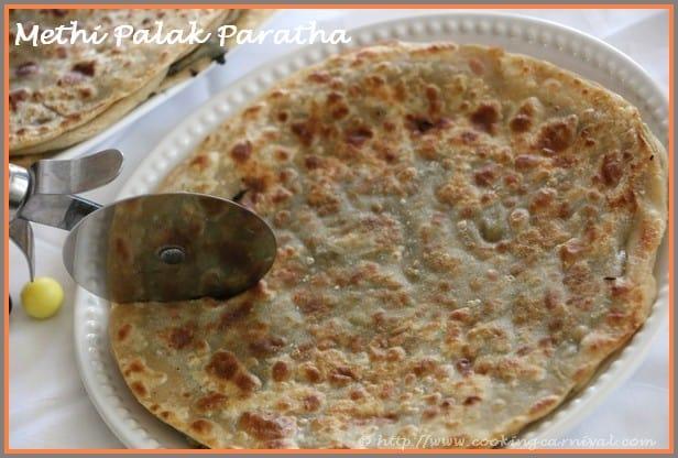 Methi Palak Paratha