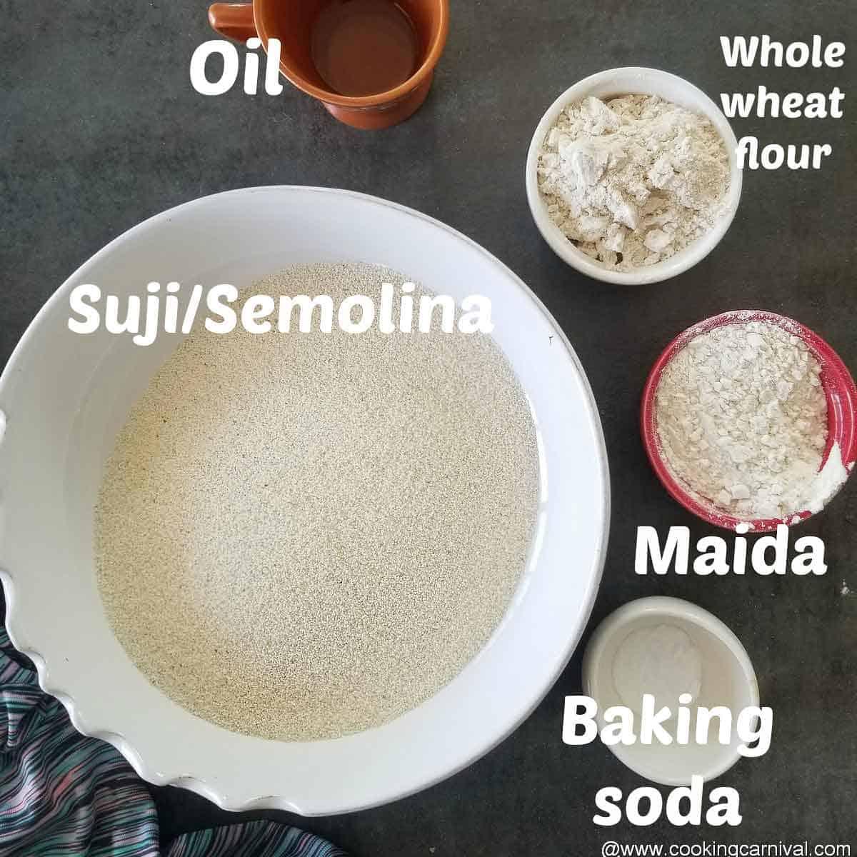 Pre measured ingredients for puri