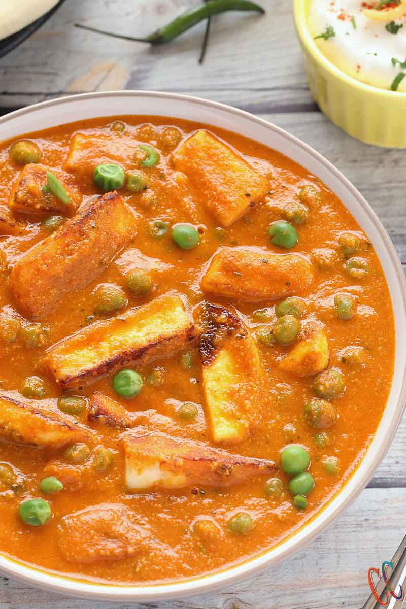 Matar Paneer | Mutter Paneer Recipe | Instant Pot Matar Paneer - A North Indian dish which is fuss free, gluten free and simple yet delicious recipe. This easy paneer recipe is perfect weeknight dinner option.