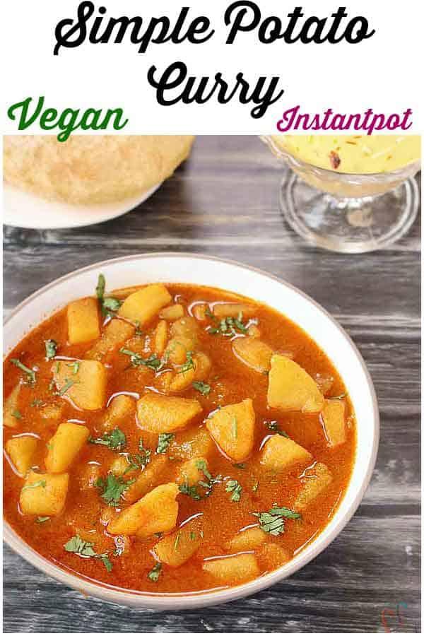 Bateta Nu Rasavalu Shak | Simple Vegan Potato curry is very common sabzi in every Gujarati thali. It is traditional Gujarati Side dish.