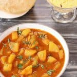 Bateta Nu Rasavalu Shak | Simple Vegan Potato curry is very common sabzi in every Gujarati thali. It is traditional Gujarati Side dish.
