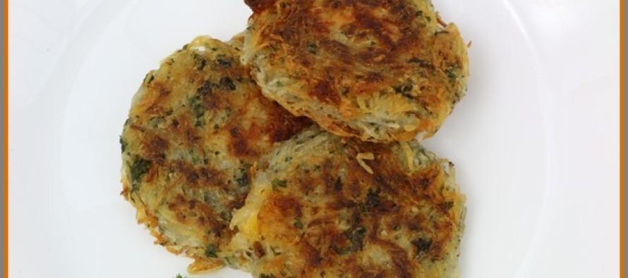 Cheesy Shredded Potato Patties | CookingCarnival