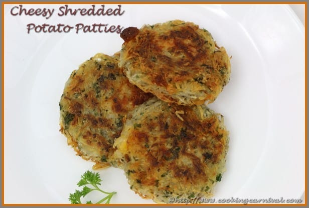 Cheesy Shredded Potato Patties