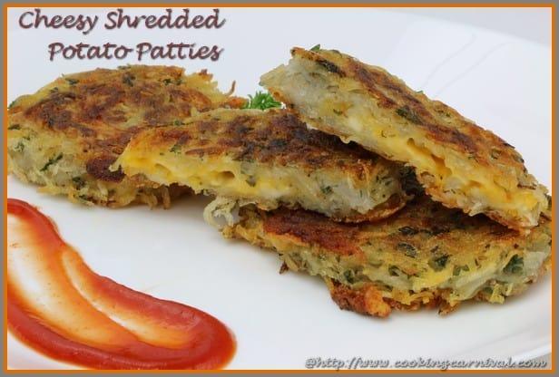 Cheesy Shredded Potato Patties