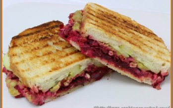 Creamy Beetroot And Sprouts Grilled Sandwich