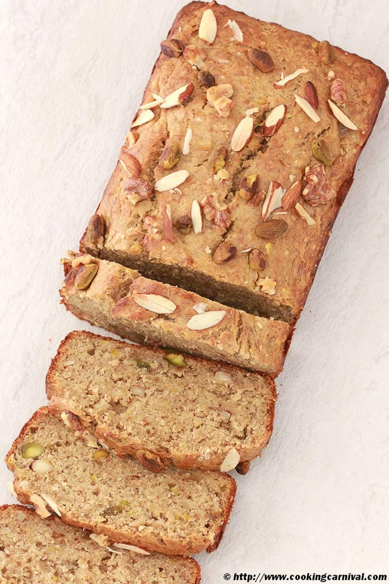 Whole Wheat Nutty Banana Bread