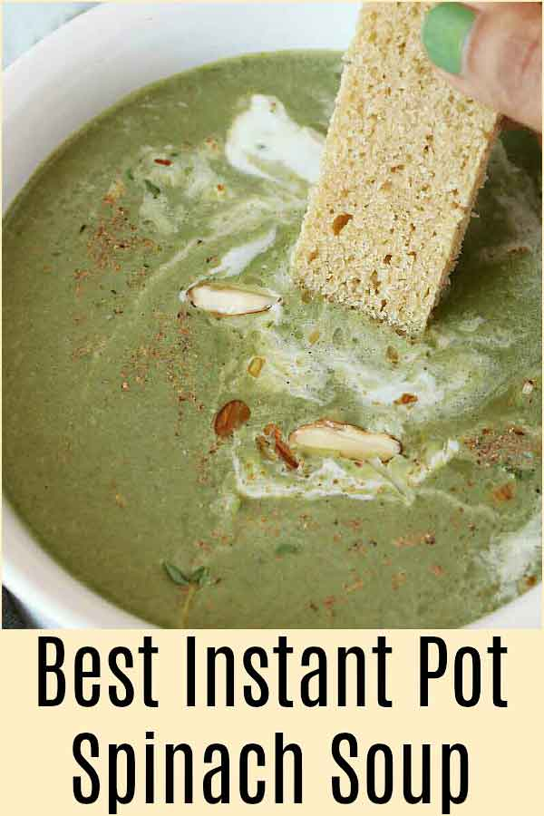 Spinach soup is not just delicious but it is hearty, comforting, simple, creamy and is a great way to include greens in your diet.