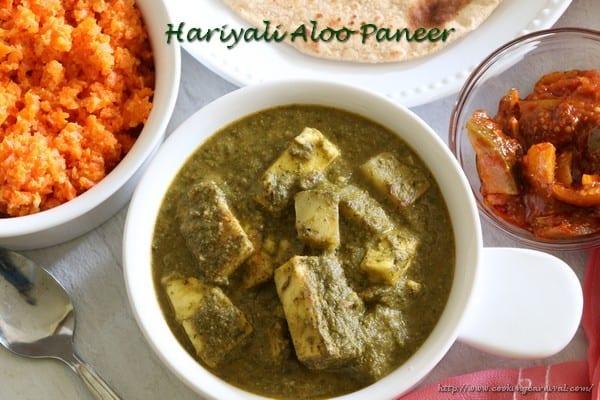 Hariyali Aloo Paneer