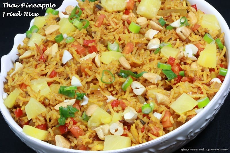 Thai Pineapple Fried Rice | CookingCarnival
