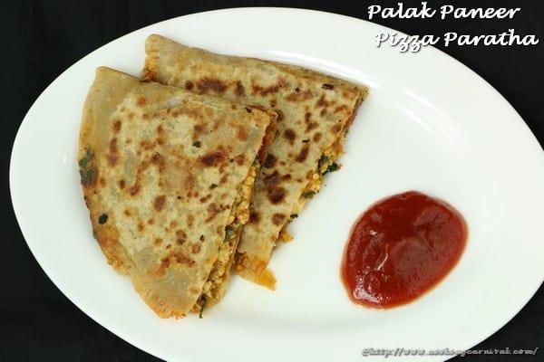 palak paneer pizza Paratha