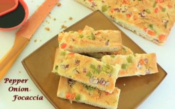 Pepper onion Focaccia Bread