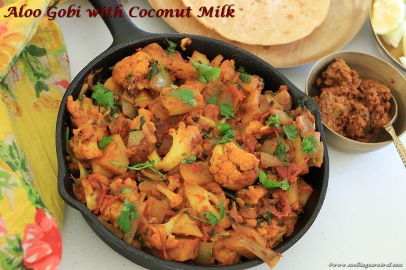 Aloo Gobi With Coconut Mil