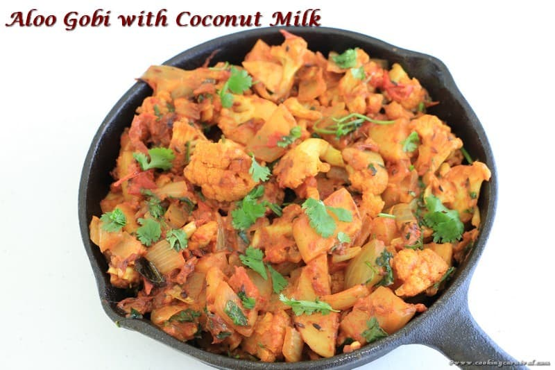 Aloo Gobi With Coconut Milk