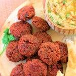beetroot falafel