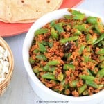 Beans In Sesame And Peanut Masala