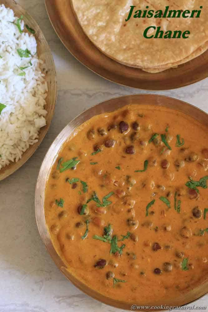 Dried black chickpeas curry