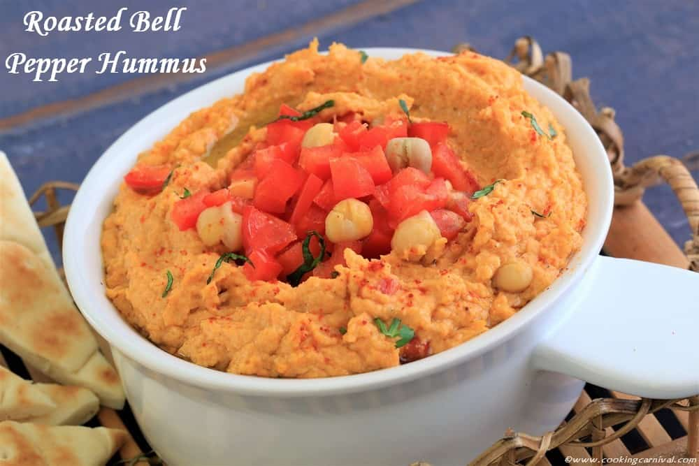 Roasted Bell Pepper Hummus