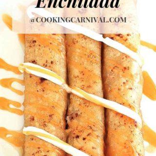 enchilada for fall / enchilada dessert / fall dessert / Apple Pie Enchilada