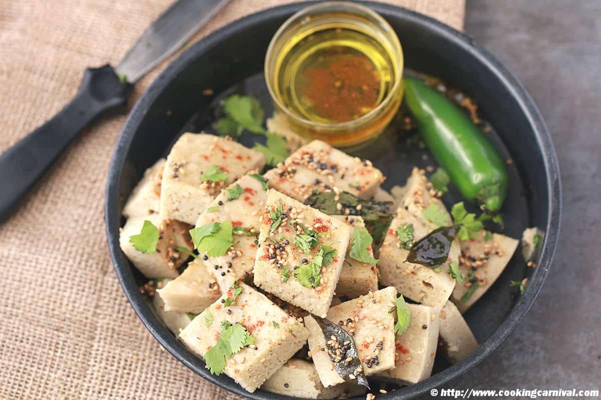 Quinoa Oats And Lentil Dhokla