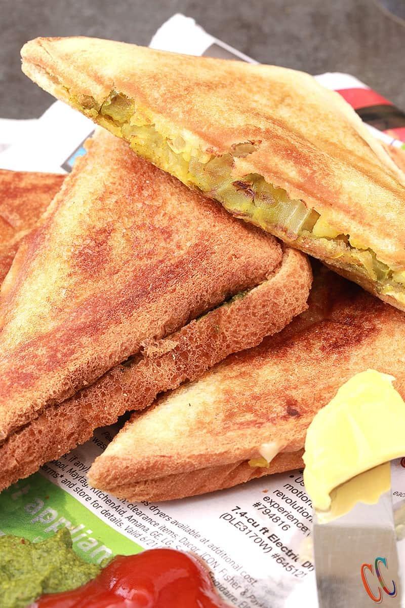 Mumbai Masala Toast Sandwich