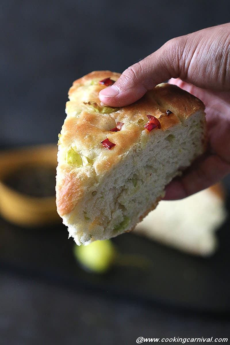 Peperoncini Focaccia Bread