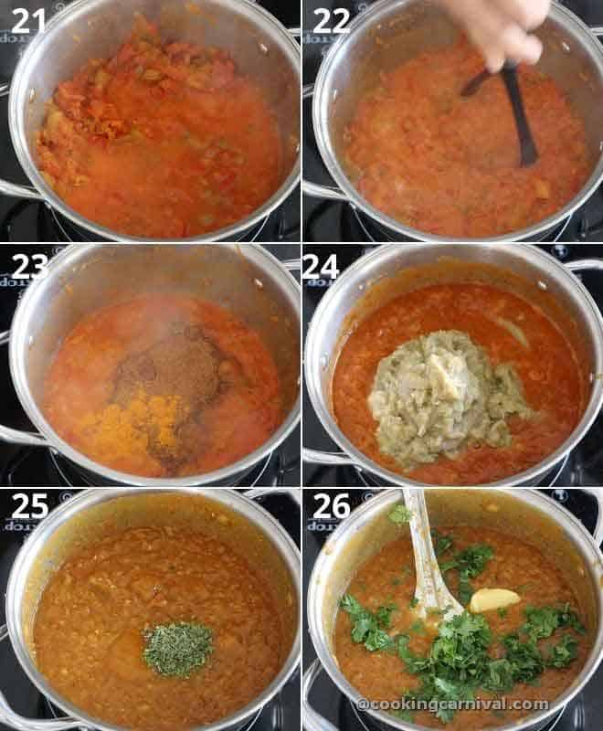 collage of making pav bhaji