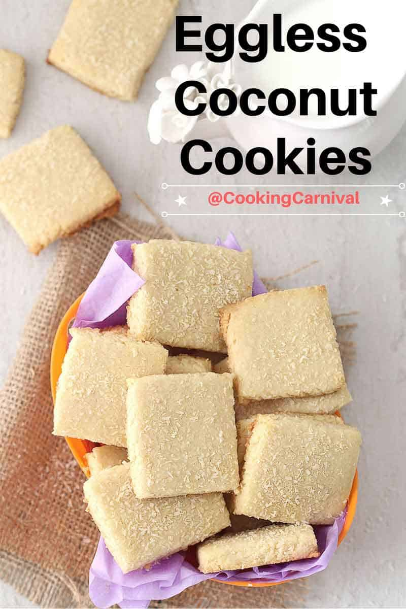 Coconut cookies without eggs / easy cookies / how to make coconut cookies / eggless / cookies homemade