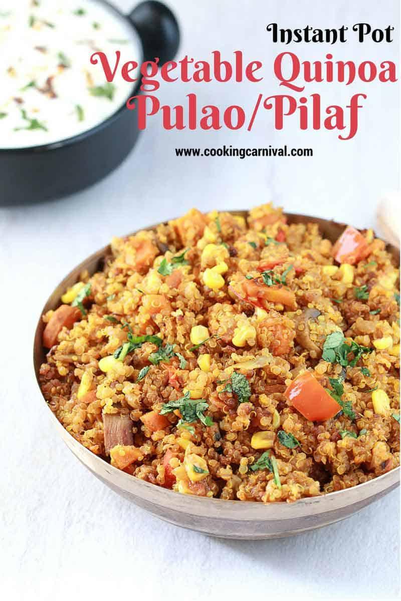 Indian Quinoa pulao recipe / Vegan quinoa recipe
