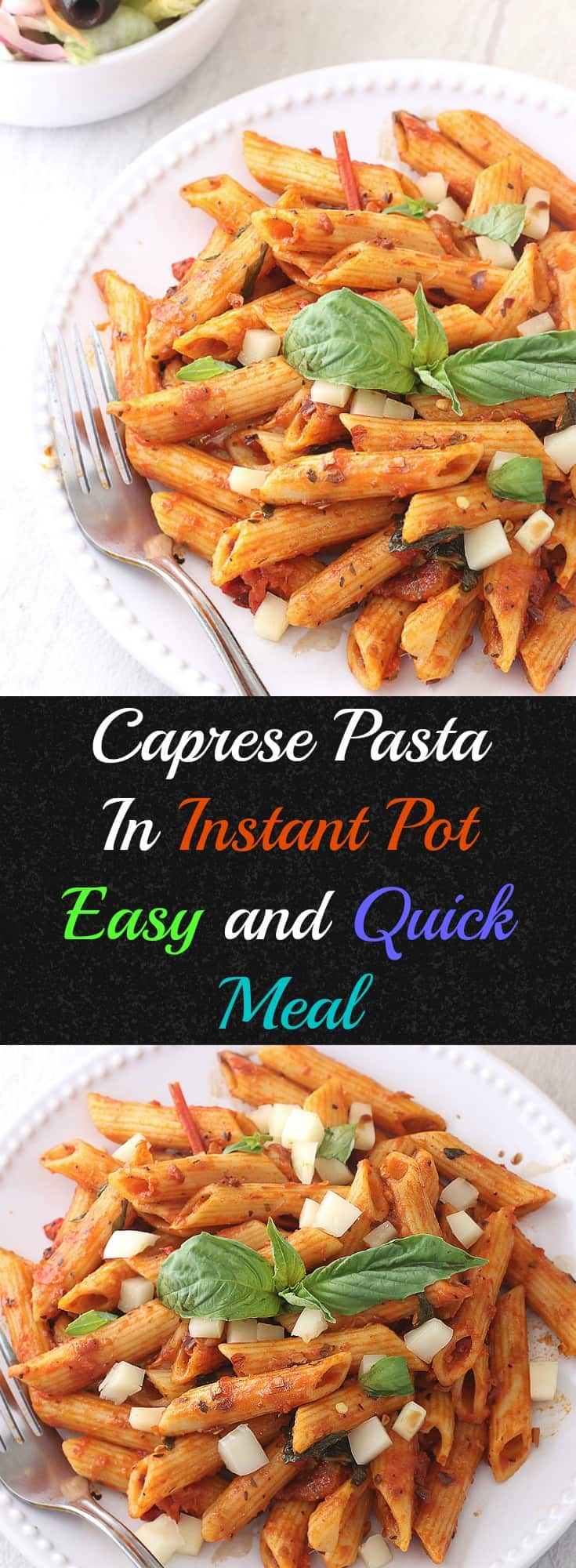 Instant Pot Caprese pasta