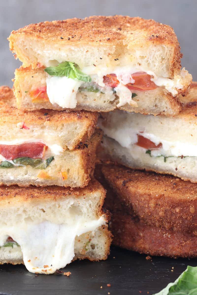 15-Minute Fried Caprese Sandwich