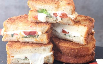 15 Minute Fried Caprese Sandwich