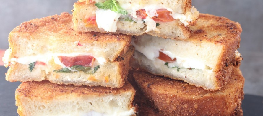 15 Minute Fried Caprese Sandwich