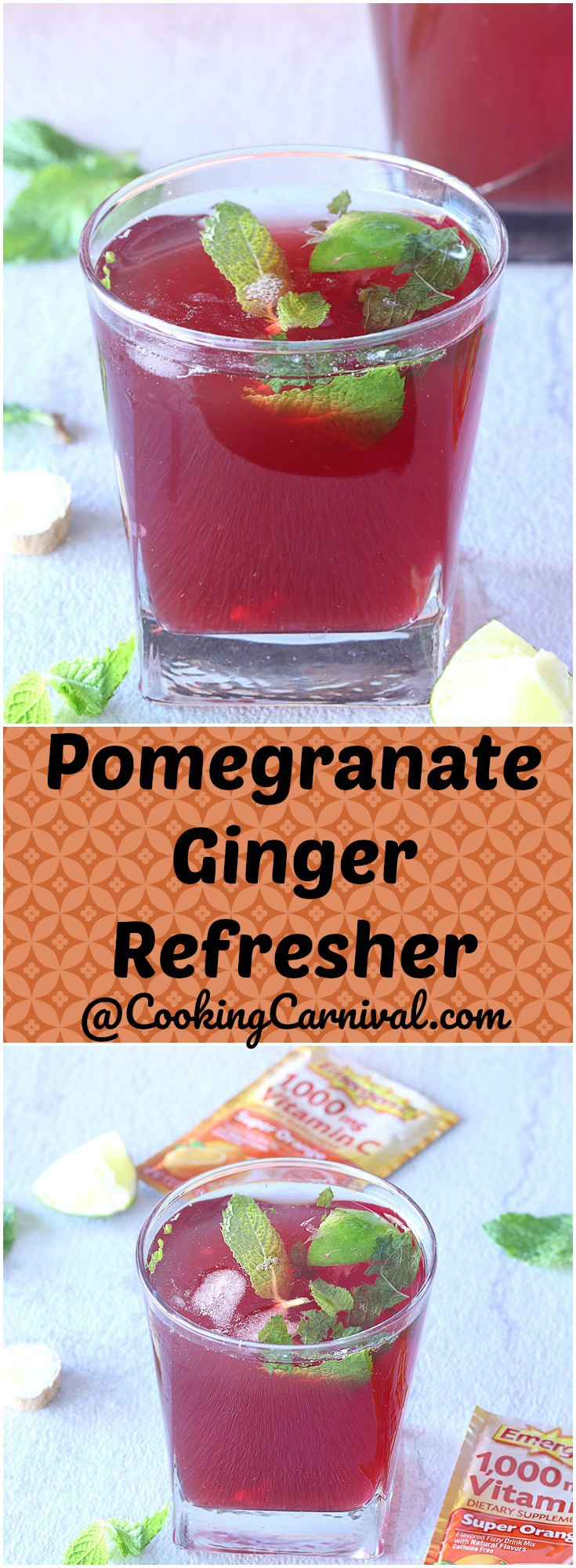Pomegranate Ginger Refresher