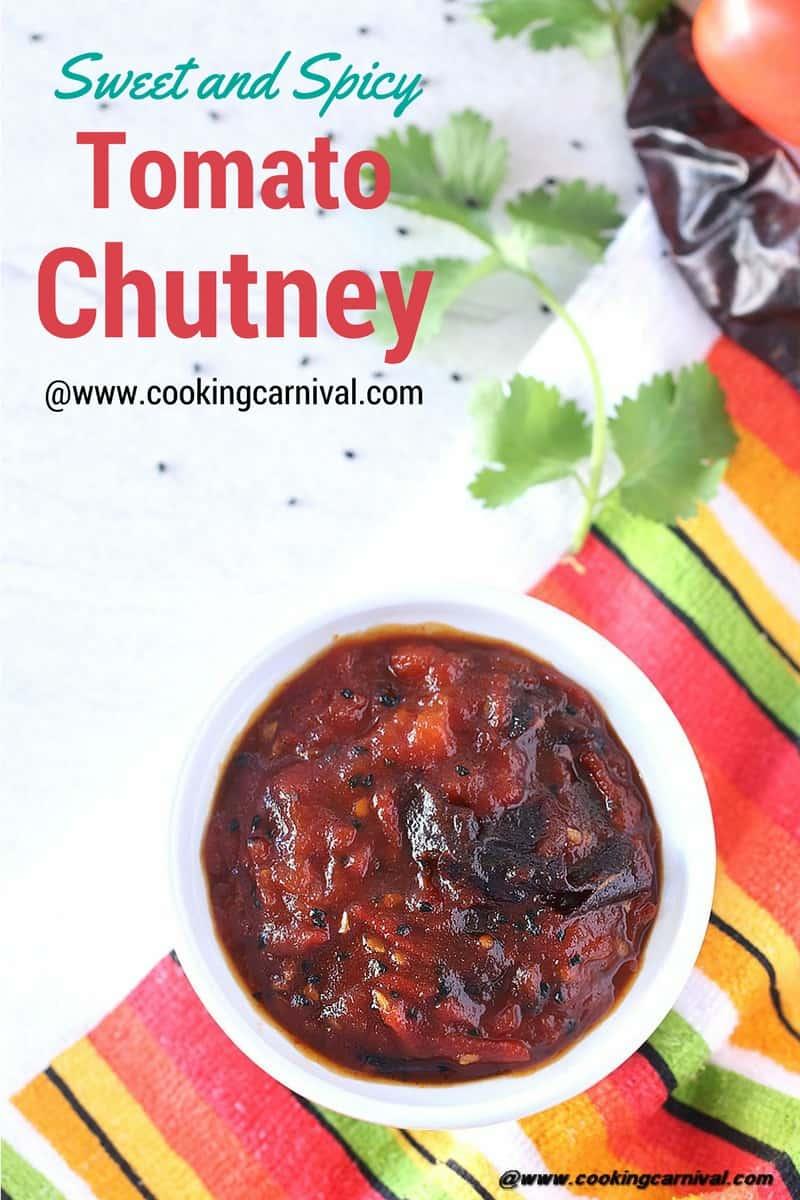 Sweet Spicy Tomato Chutney