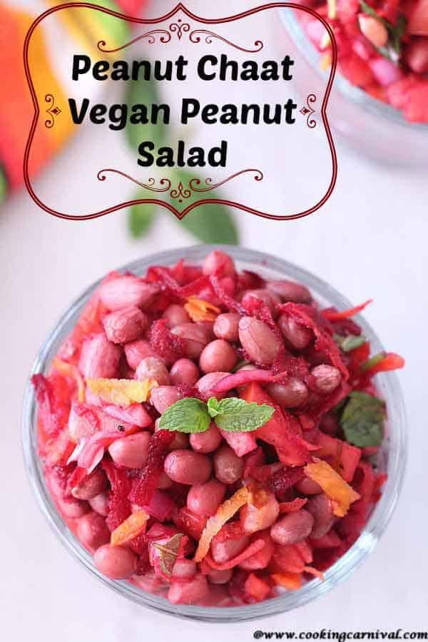 Peanut salad / Vegan peanut recipe / vegan salad recipe /