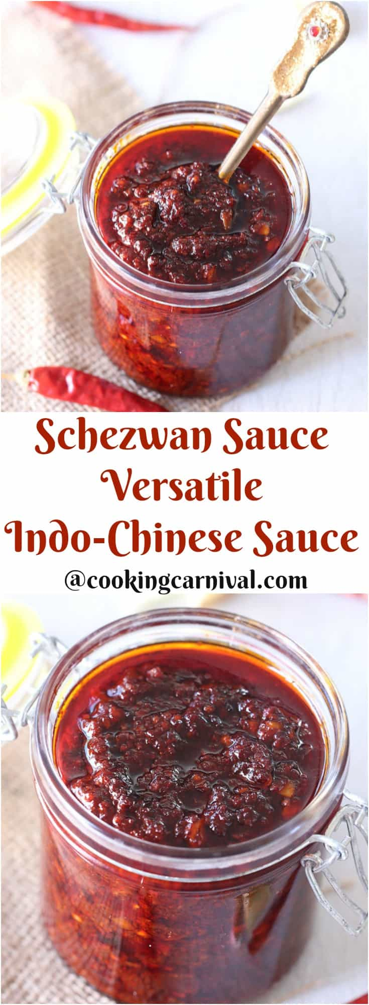 Homemade Schezwan Sauce
