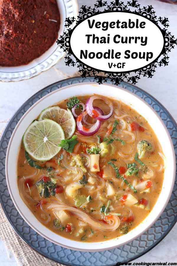 Vegan Gluten free soup / Thai soup / vegetable noodle soup / winter soup/